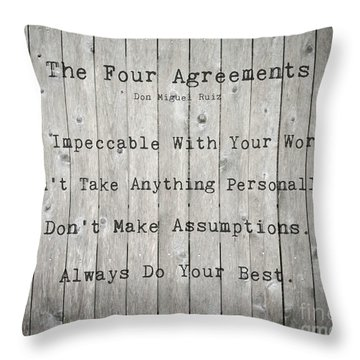 The Four Agreements 12 Throw Pillow