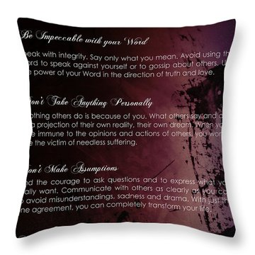 The Four Agreements 3 Throw Pillow