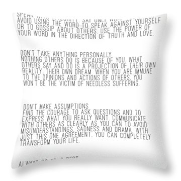 The Four Agreements 5 Throw Pillow