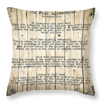 The Four Agreements 8 Throw Pillow