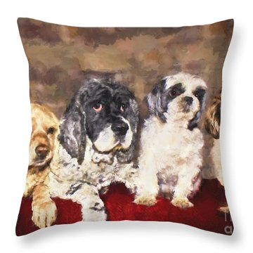 The Four Amigos Throw Pillow