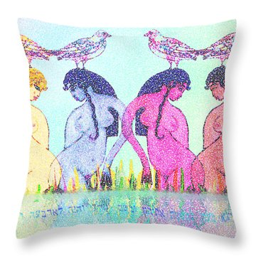 The Four Daughters Of Eve  -aka-  Four Rivers Throw Pillow