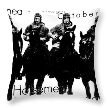 The Four Horsemen Of Notre Dame Throw Pillow