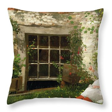 The Four Leaf Clover Throw Pillow