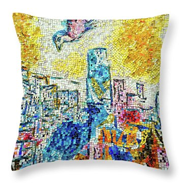 The Four Seasons Chicago Portrait Throw Pillow