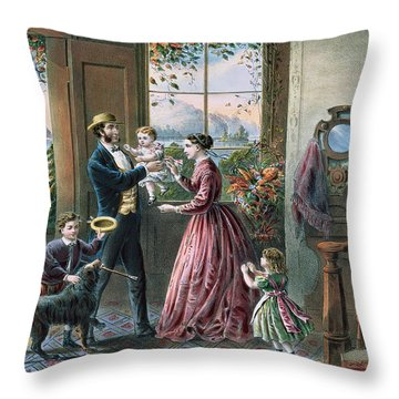The Four Seasons Of Life  Middle Age Throw Pillow