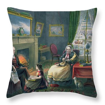 The Four Seasons Of Life  Old Age Throw Pillow