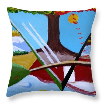 The Four Seasons Throw Pillow