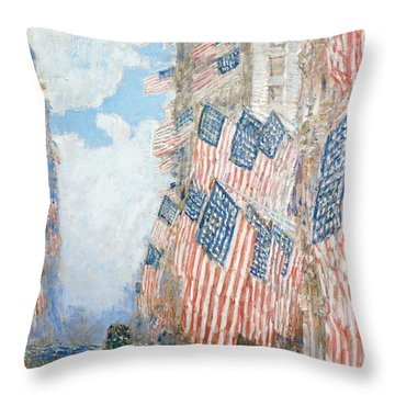 The Fourth Of July Throw Pillow by Childe Hassam