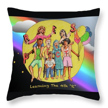 The Fourth R Throw Pillow
