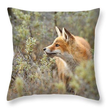 The Fox And Its Prey Throw Pillow by Roeselien Raimond
