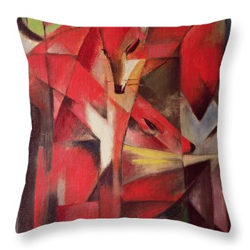 The Fox Throw Pillow by Franz Marc