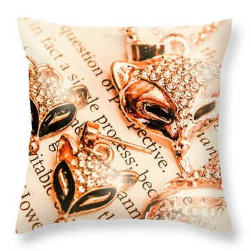 The Fox Tale Throw Pillow