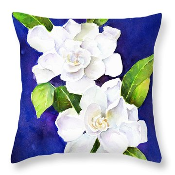 The Fragrant Gardenia Throw Pillow by Arline Wagner