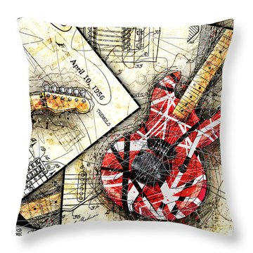 The Frankenstrat Throw Pillow