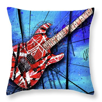 The Frankenstrat Vii Cropped Throw Pillow by Gary Bodnar