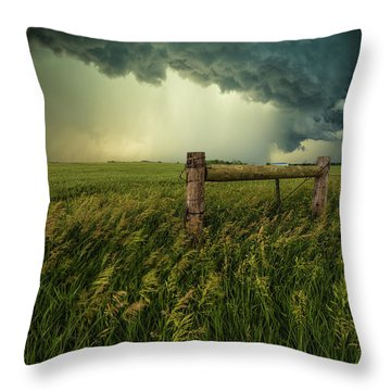 Throw Pillow featuring the photograph The Frayed Ends Of Sanity  by Aaron J Groen