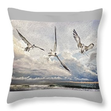 The Freedom Of Flight Throw Pillow
