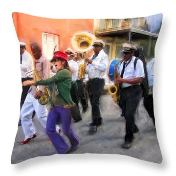 The French Quarter Shuffle Throw Pillow by Dominic Piperata