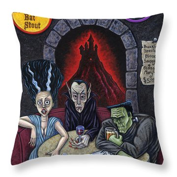 The Fried Of Blankenstein Throw Pillow by Holly Wood
