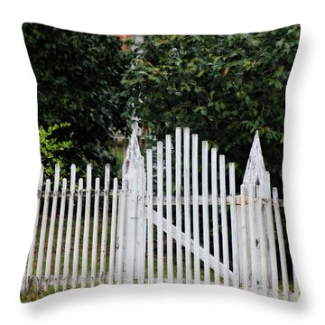 The Front Gate Throw Pillow