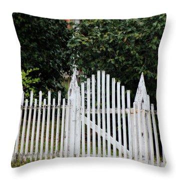 The Front Gate Throw Pillow by Lynn Jordan