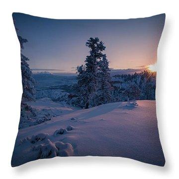 The Frozen Dance Throw Pillow by Edgars Erglis