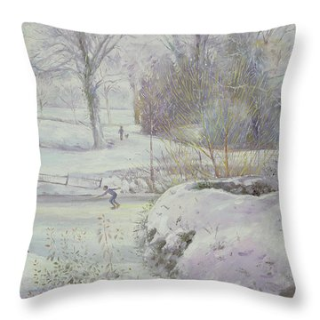 The Frozen Day Throw Pillow