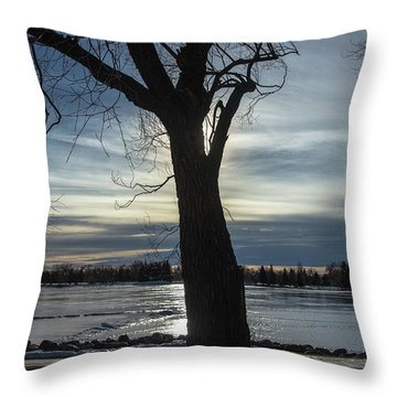 The Frozen Sun Throw Pillow