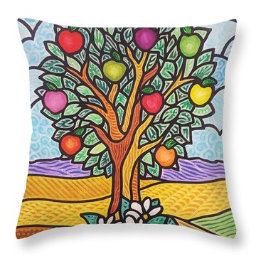 The Fruit Of The Spirit Tree Throw Pillow