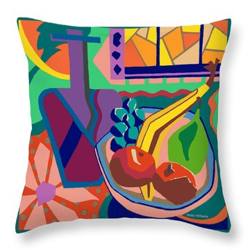 The Fruit Table Throw Pillow