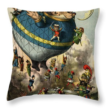 The Frying Pan Of War Throw Pillow