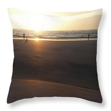 Throw Pillow featuring the photograph The Full Sun by Eric Christopher Jackson