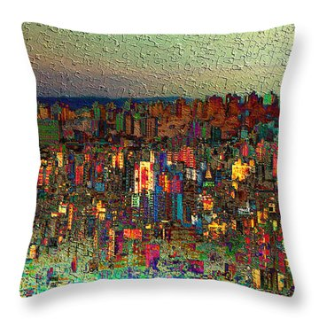 The Fun Side Of Town Throw Pillow
