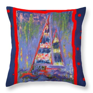 The Fun Of Sailing Throw Pillow by Karin Eisermann