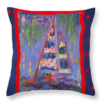 The Fun Of Sailing Throw Pillow