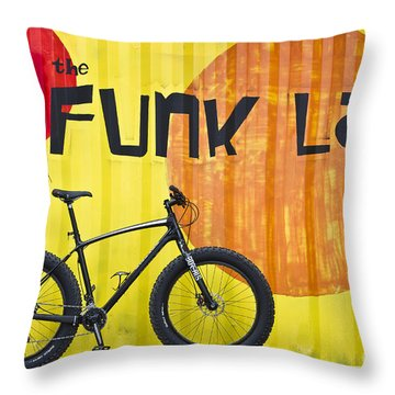 Throw Pillow featuring the photograph The Funk Lab by Bryan Keil
