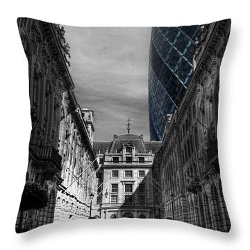 The Future Behind The Past Throw Pillow by Yhun Suarez