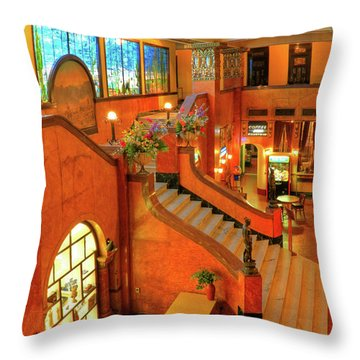 The Gadsden Hotel In Douglas Arizona Throw Pillow