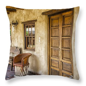 The Gage Hotel Throw Pillow by Kathy Adams Clark