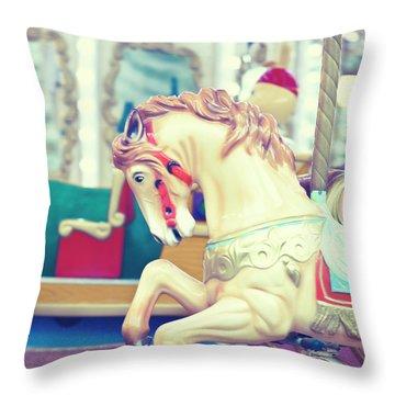 The Galloper - Paris Carousel Print Throw Pillow by Melanie Alexandra Price