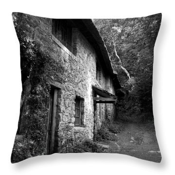 Throw Pillow featuring the photograph The Game Keepers Cottage by Michael Hope