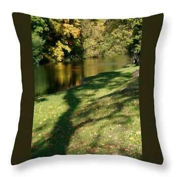 The Game Of Shadows Throw Pillow