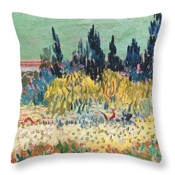 The Garden At Arles  Throw Pillow