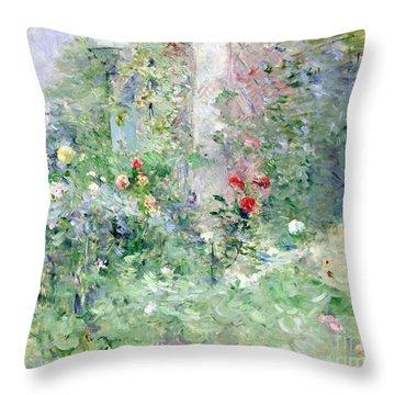 The Garden At Bougival Throw Pillow by Berthe Morisot