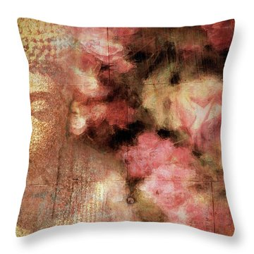 The Garden Buddha 1 Throw Pillow
