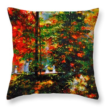 The Garden Throw Pillow