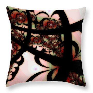 The Garden Gate Throw Pillow by Bonnie Bruno