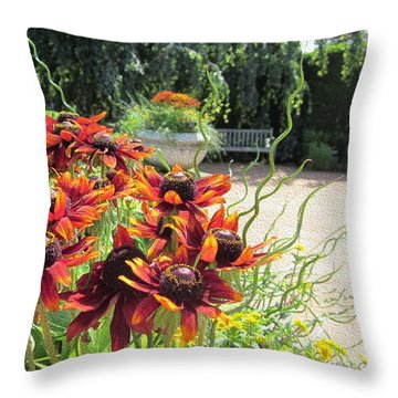 The Garden In August Throw Pillow