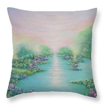 The Garden Of Eden Throw Pillow